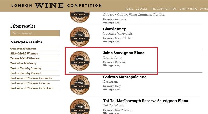 Crama Jelna lovește și la Londra: Sauvignonul Blanc cu Amprenta Transilvaniei pe etichetă cucerește bronzul!